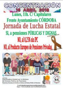 Concentración por unas pensiones públicas y dignas @ Frente Ayuntamiento de Córdoba