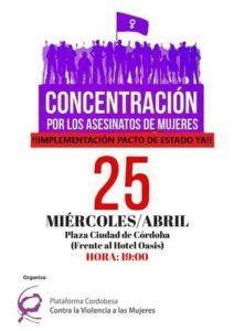 Concentración por los asesinatos de mujeres @ Plaza Ciudad de Córdoba