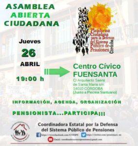 Asamblea Abierta Ciudadana, pensionista...participa! @ Centro Cívico Fuensanta